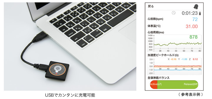 USBでもカンタンに充電可能